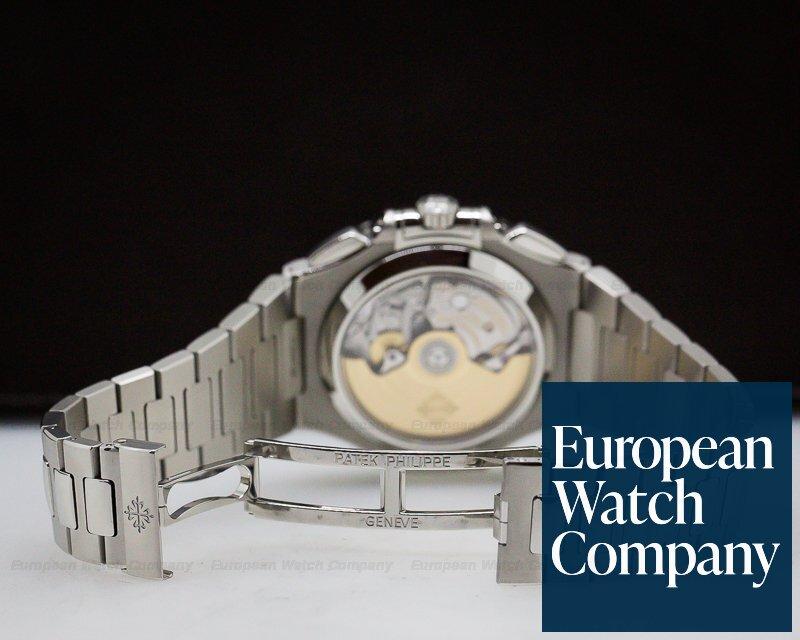 Patek Philippe 5980/1A-001 Nautilus Chronograph SS Blue Dial / FULL SET