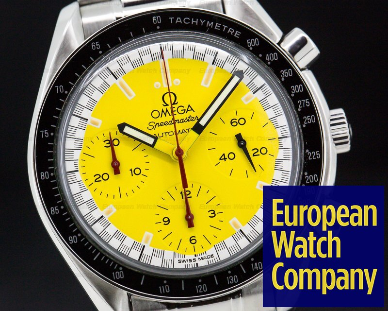 "Omega 3810.12.40 Speedmaster ""Michael Schumacher"" Yellow Dial"