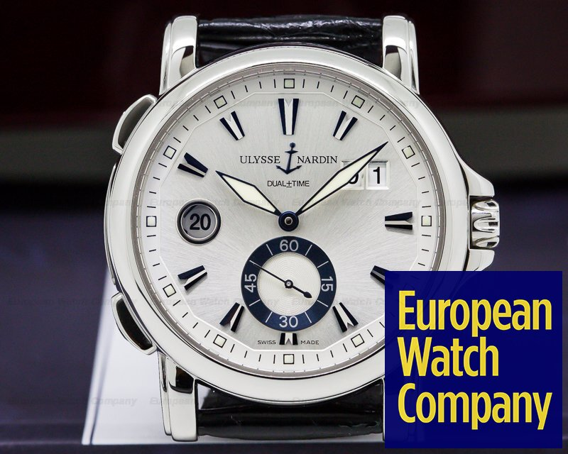 Ulysse Nardin 243-55-91 Dual Time SS 42MM Silver Dial