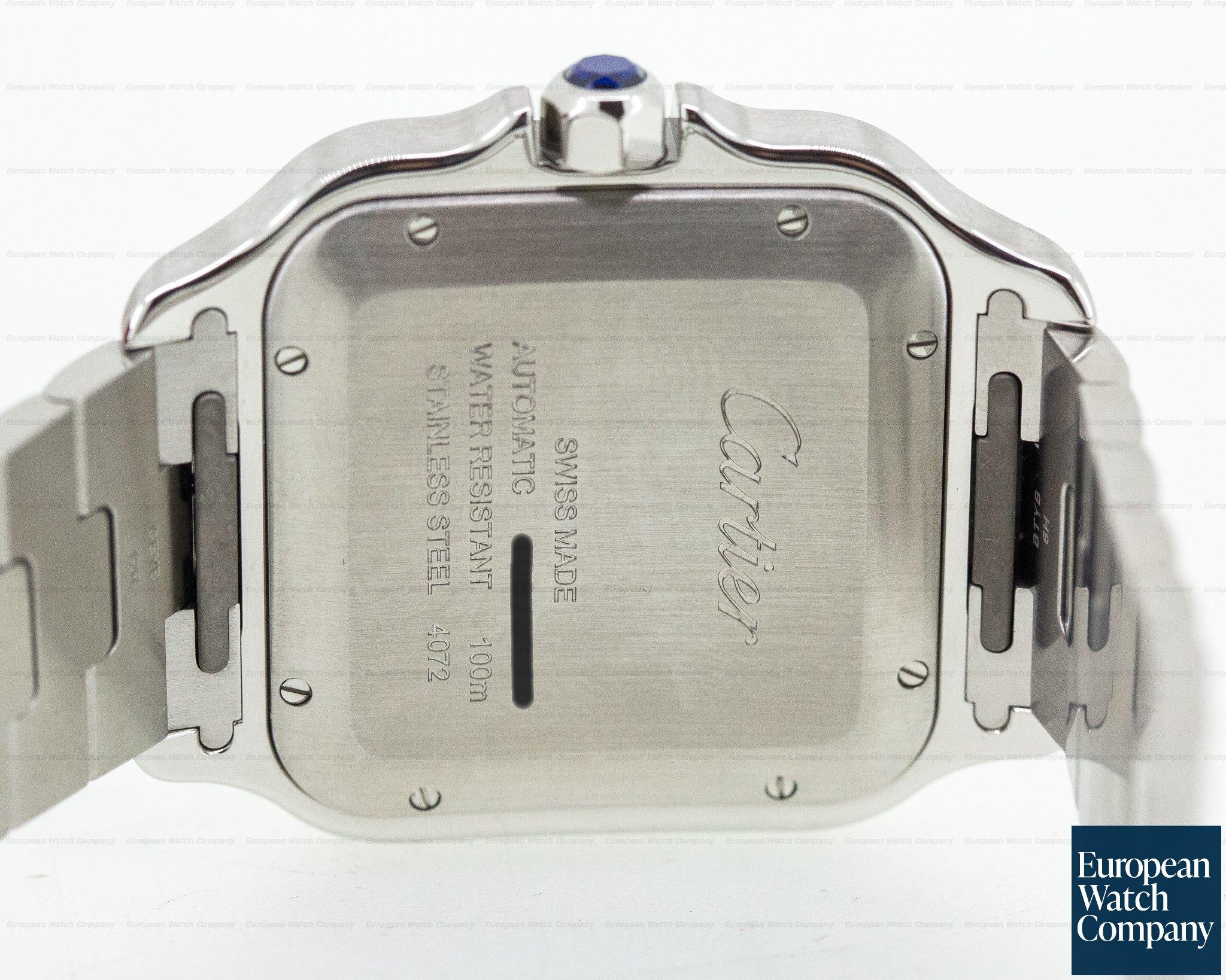 Cartier WSSA0009 Santos Large SS / SS Automatic NEW MODEL