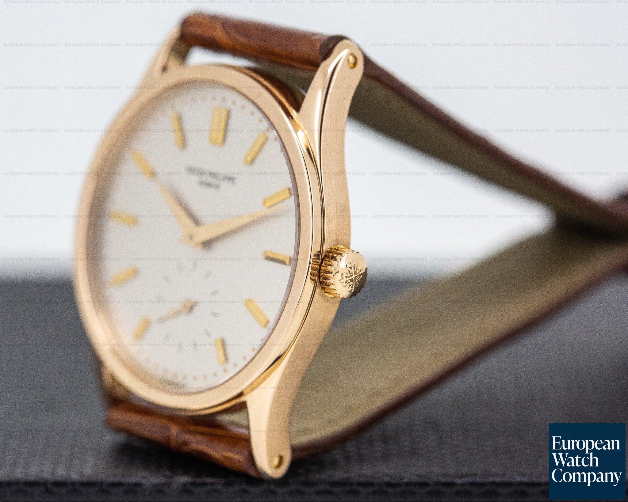 Patek Philippe 3796R-012 Calatrava Manual Wind 18K Rose Gold / Silver Dial