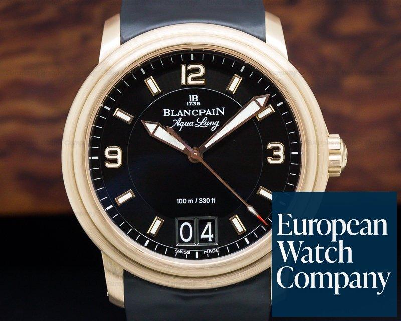 Blancpain 2850B-3630A-64B Aqualung Big Date 18K RG / Rubber