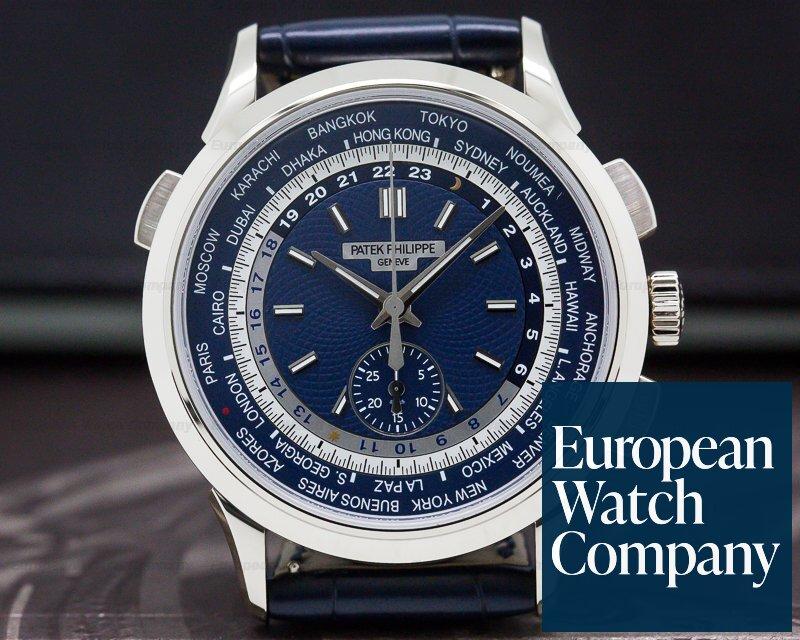 Patek Philippe 5930G-001 World Time Chronograph 18k White Gold UNWORN