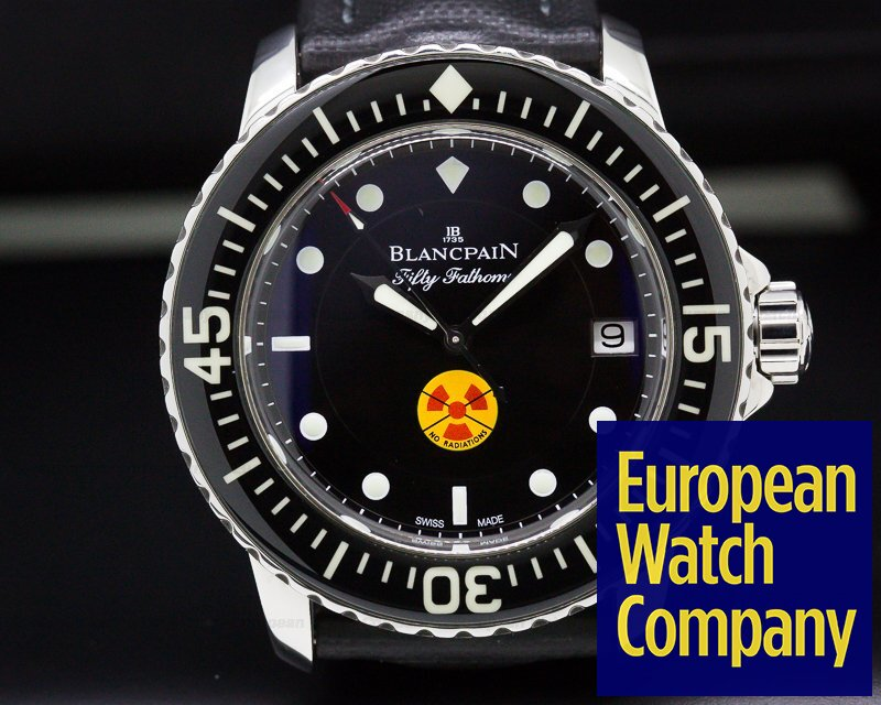 "Blancpain 5015B-1130-52A Fifty Fathoms ""No Radiations"" SS Limited"