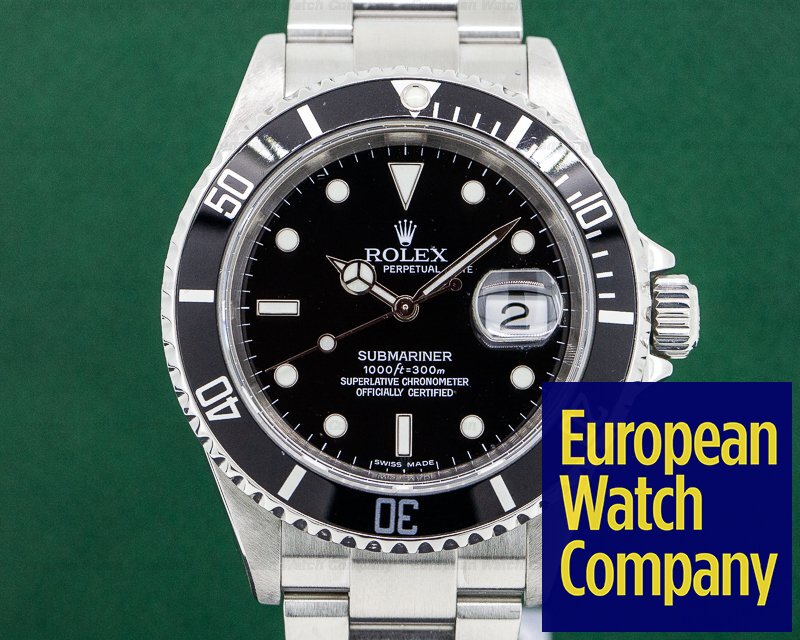 Rolex 16610 Submariner Date SS / SS