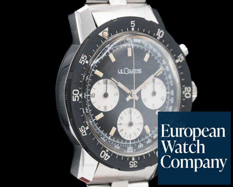 Jaeger LeCoultre E2643 Vintage Shark Deep Sea Valjoux 72 Chronograph SS Original Bracelet + Ext