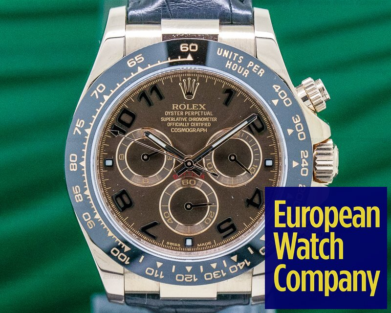 Rolex 116515LN Cosmograph Daytona 18K Rose Gold / Chocolate Dial