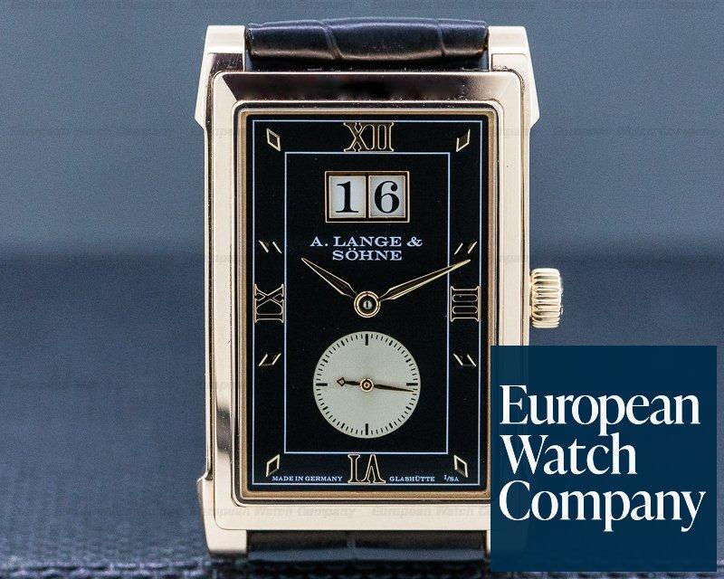 A. Lange and Sohne 107.031 Cabaret 18K Rose Gold Black Dial