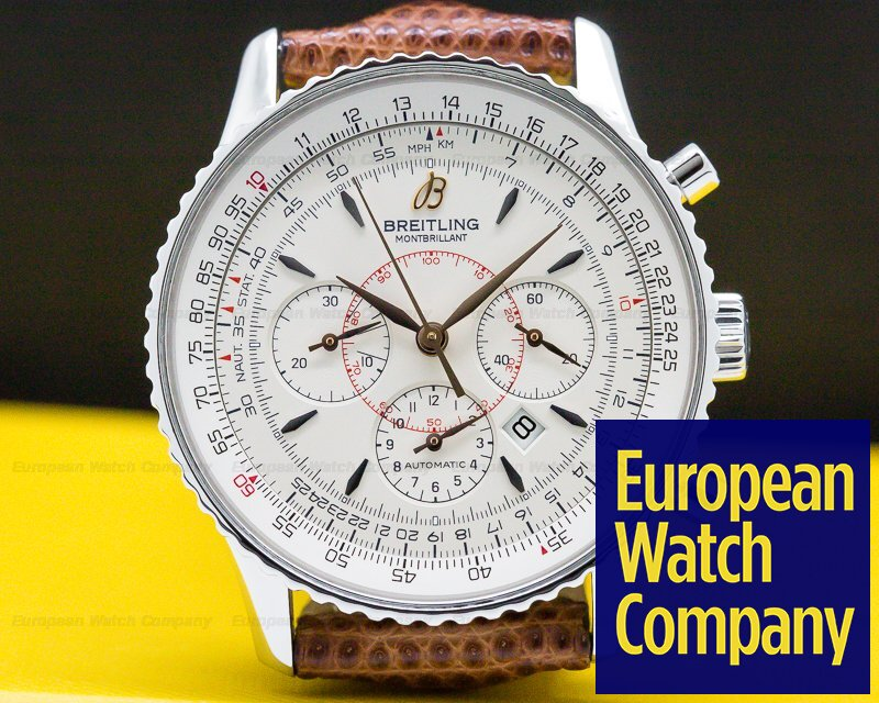 Breitling A417G34TBA Navitimer Montbrillant SS Silver Dial