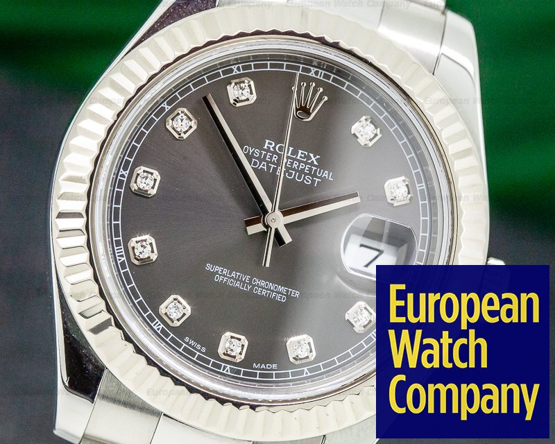Rolex 116334 Datejust II SS Grey Diamond Dial