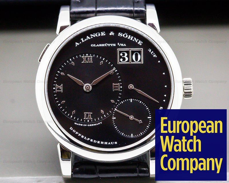 A. Lange and Sohne 101.035 Lange 1 Platinum Black Dial