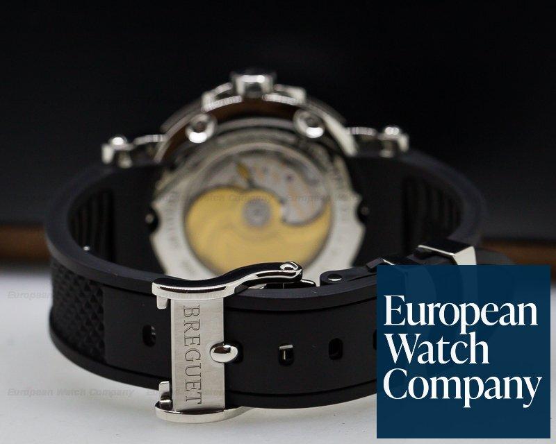 Breguet 5817ST/92/5V8 Marine Big Date Black Dial SS / Rubber