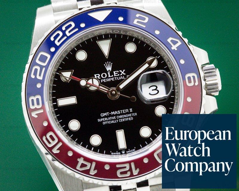 "Rolex 126710BLRO GMT Master II Ceramic ""Pepsi"" SS / Jubilee UNWORN"