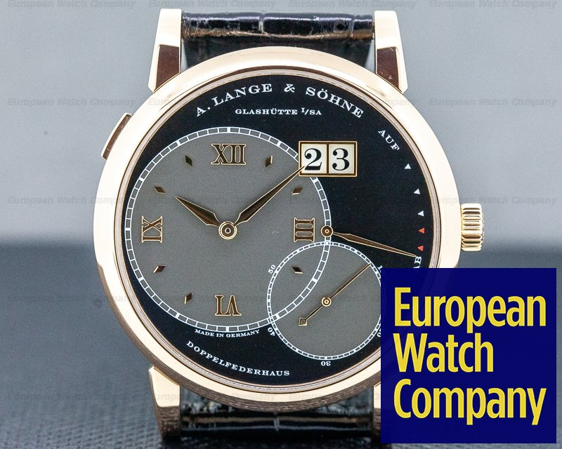 A. Lange and Sohne 115.031 Grand Lange 1 18K Rose Gold Black Dial