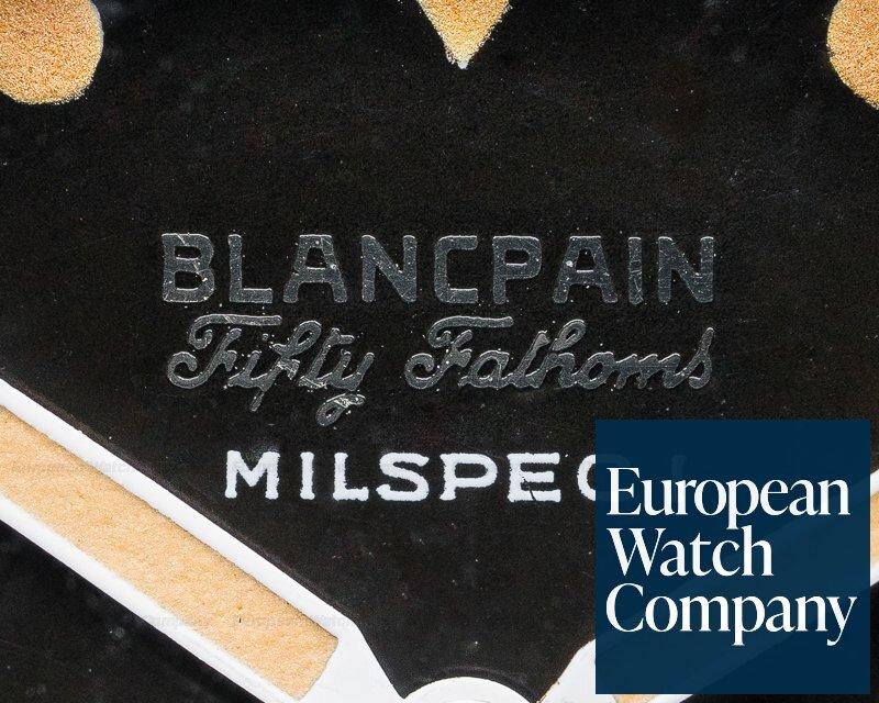 "Blancpain Milspec 1 Fifty Fathoms Milspec 1 Radium ""Double Swiss"" Circa 1963 GLOSS"