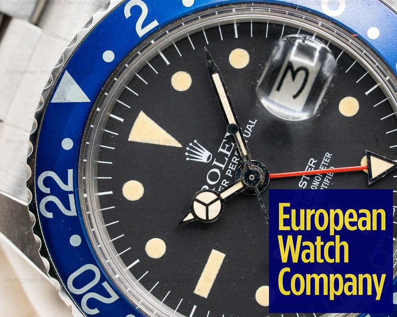 "Rolex 1675 GMT Master ""Blueberry"" MKIII Radial Dial SS WOW"