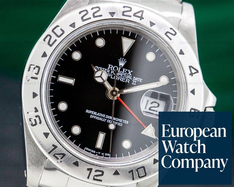 Rolex 16570 Explorer II Black Dial