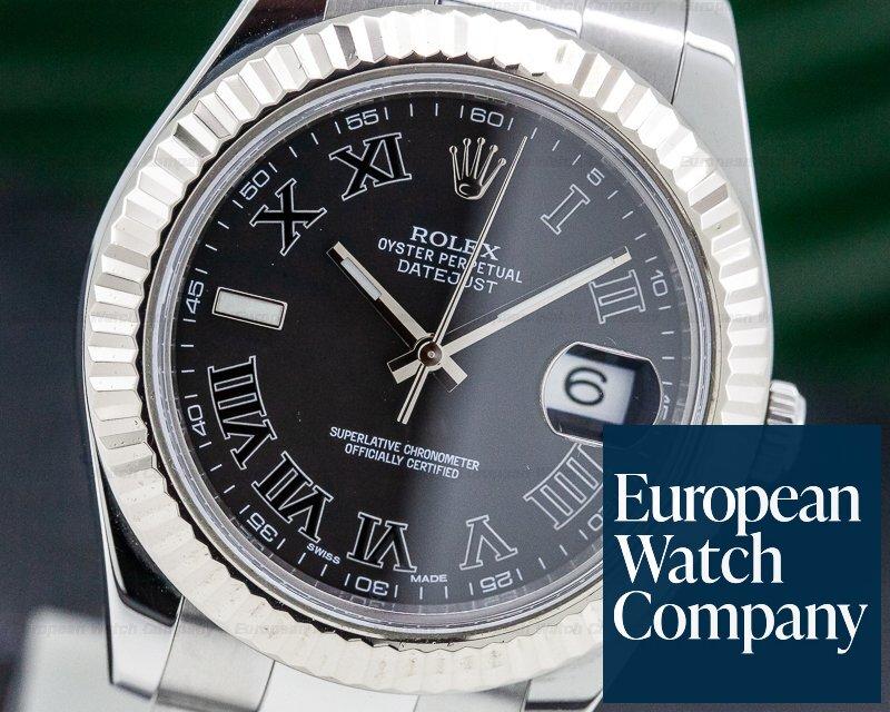 Rolex 116334 Datejust II Black Roman Dial SS