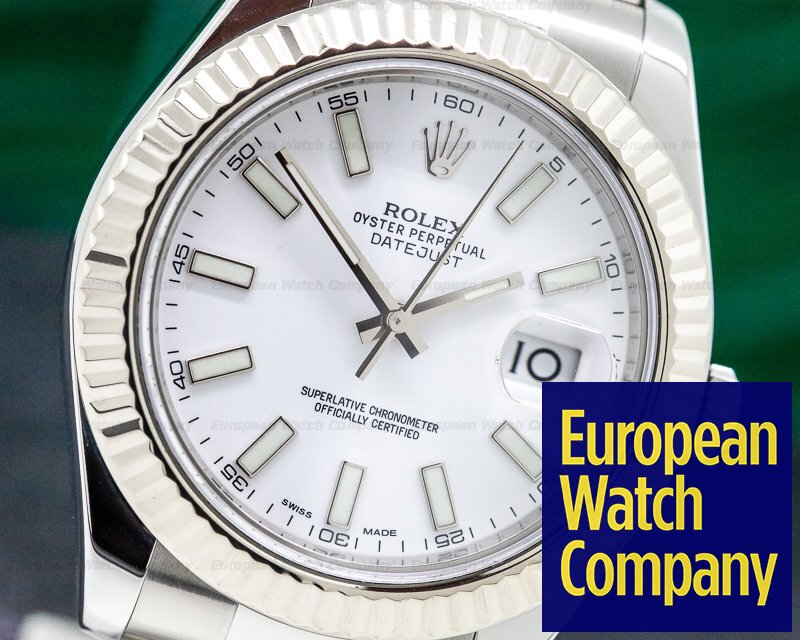 Rolex 116334 Datejust II White Stick Dial SS