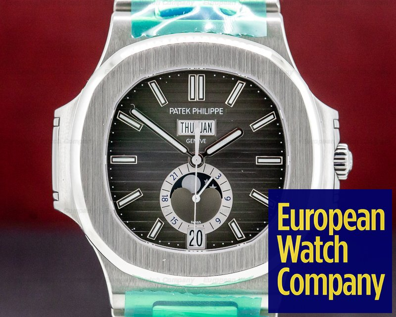 Patek Philippe 5726/1A-001 Nautilus Annual Calendar Moon Grey Dial SS / SS