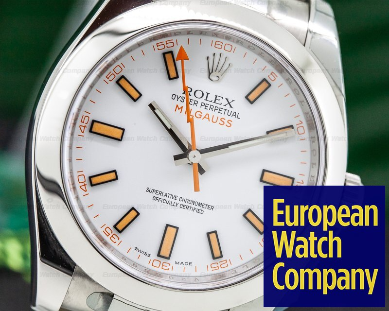 Rolex 116400 Milgauss SS White Dial NEW OLD STOCK