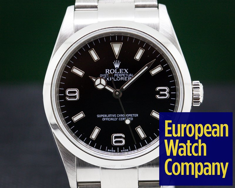 Rolex 114270 Explorer I 36MM SS Black Dial