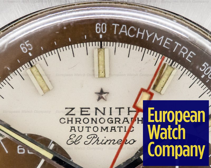 Zenith A384 Vintage El Primero TROPICAL Dial SS / Leather