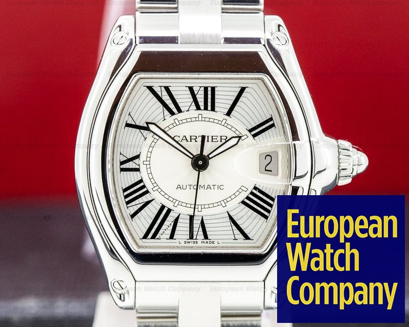Cartier W62025V3 Roadster Silver Dial SS 38MM
