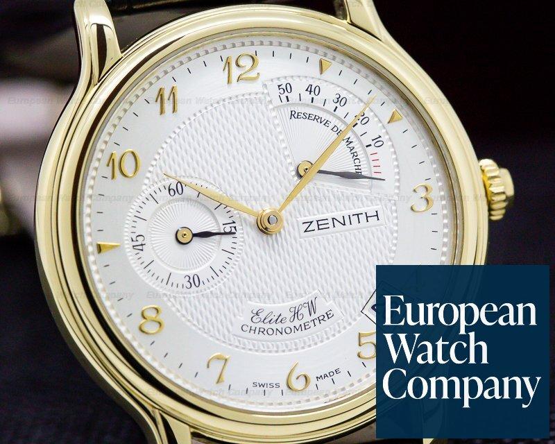 Zenith 30.1125.655/01 Class Elite Reserve de Marche 18K Yellow Gold