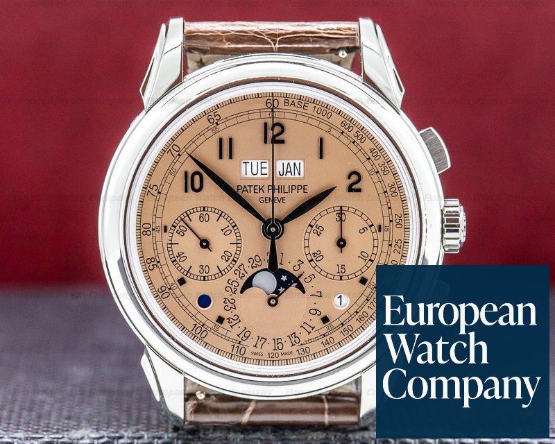 Patek Philippe 5270P-001 Perpetual Calendar Chronograph Platinum Salmon Dial UNWORN