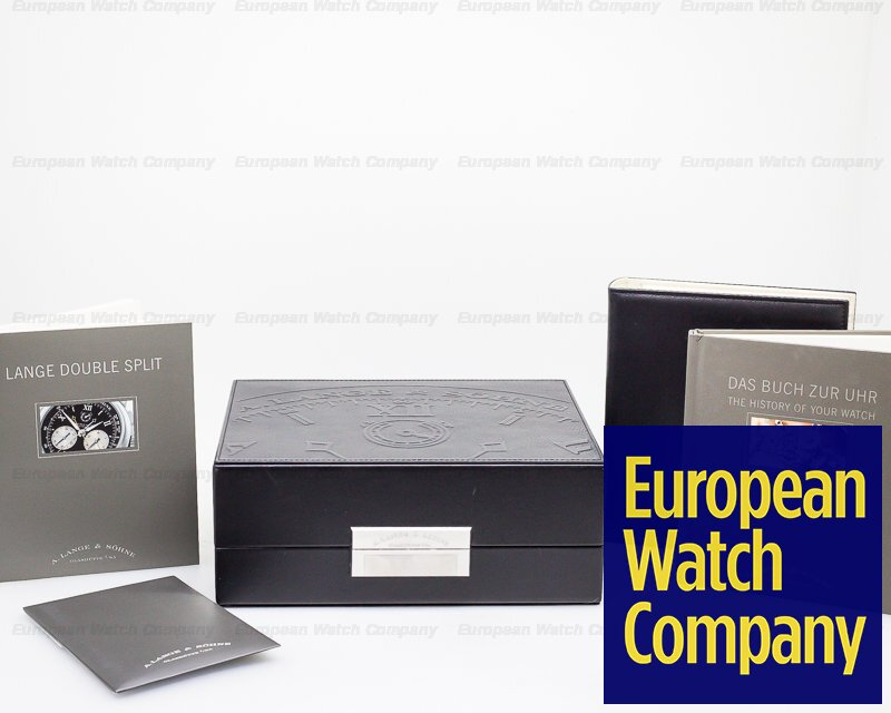 A. Lange and Sohne 404.035 Datograph Double Split Black Dial Platinum / Deployment