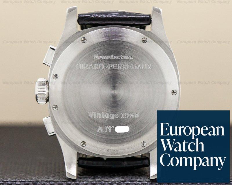 Girard Perregaux 2598 Vintage 1960 Black Dial Chronograph Automatic SS
