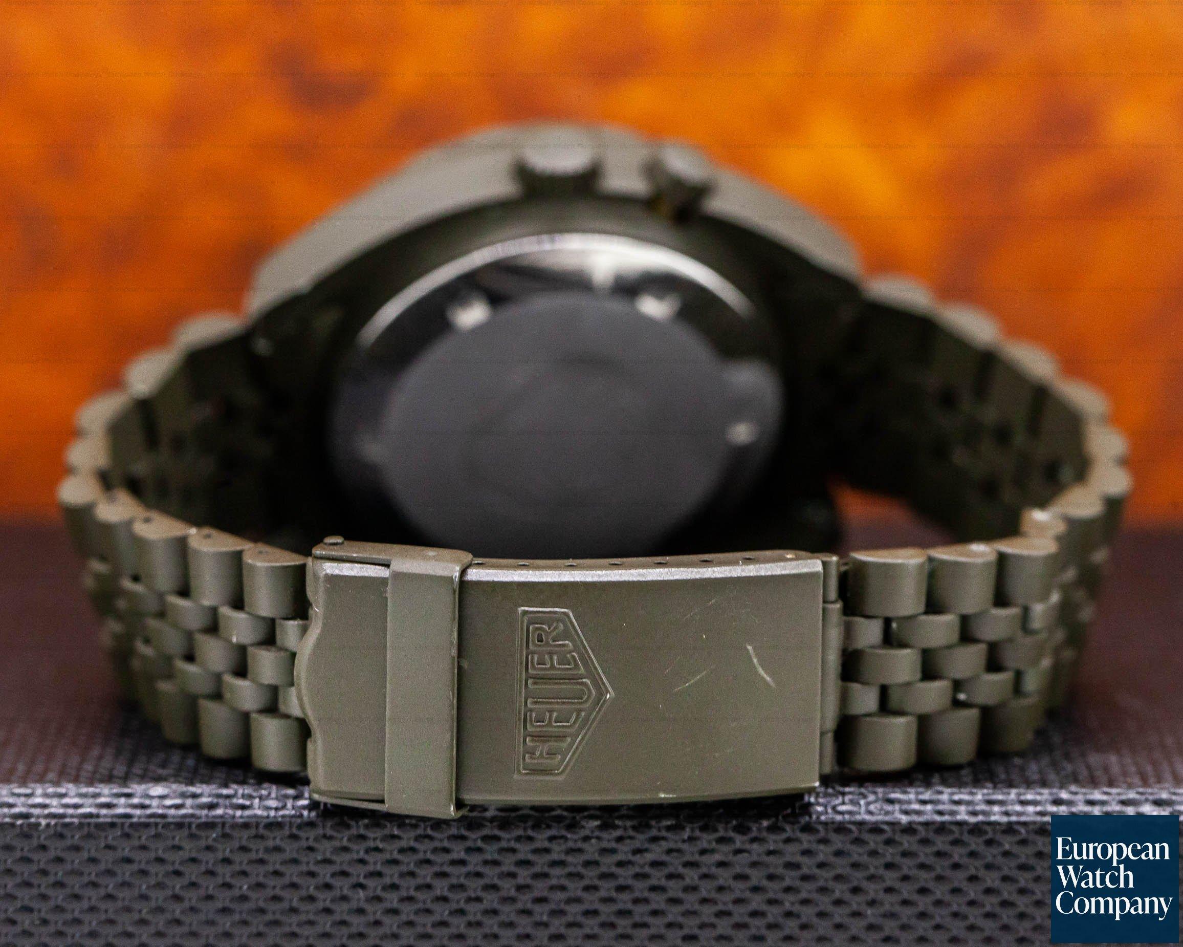 "Heuer 134.602 Vintage Regatta Chronograph ""Olive"" PVD"
