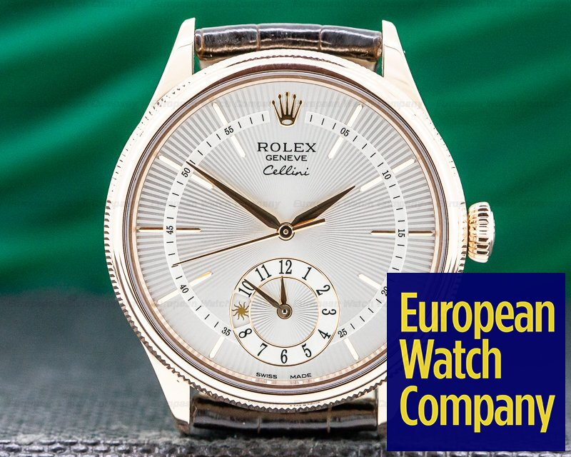Rolex 50525 Cellini Dual Time 18K Rose Gold