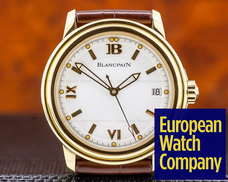 Blancpain 2100-1418-53B Leman Automatic 18K Yellow Gold