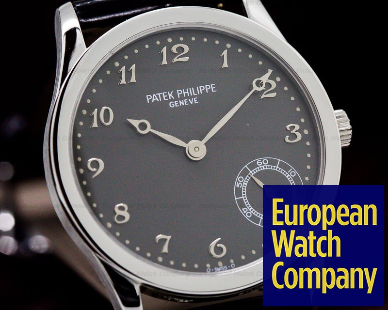 Patek Philippe 5026P-001 Calatrava Automatic Grey Arabic Dial Platinum RARE