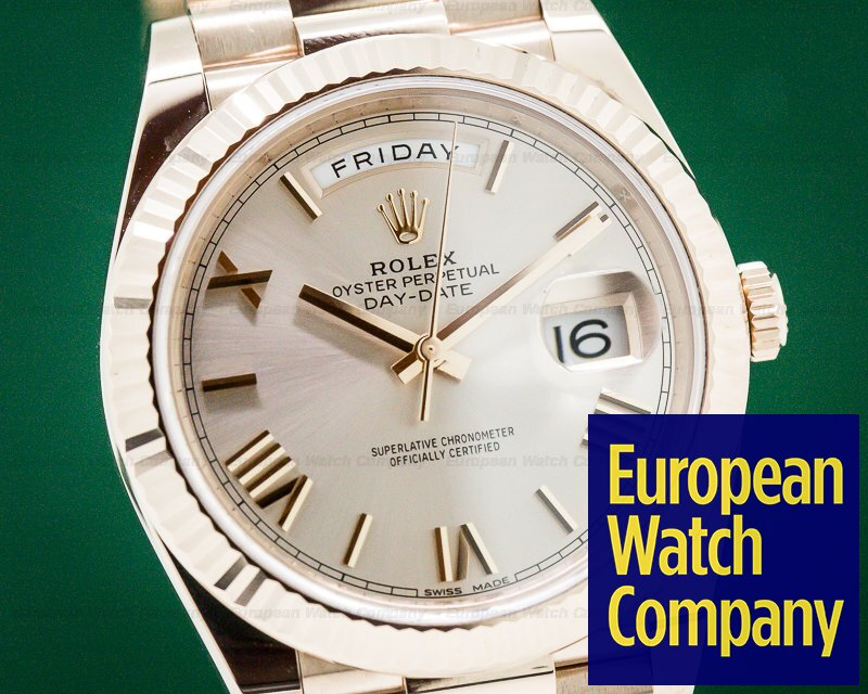 Rolex 228235 Day Date Presidential Everose Gold Silver Dial 40MM