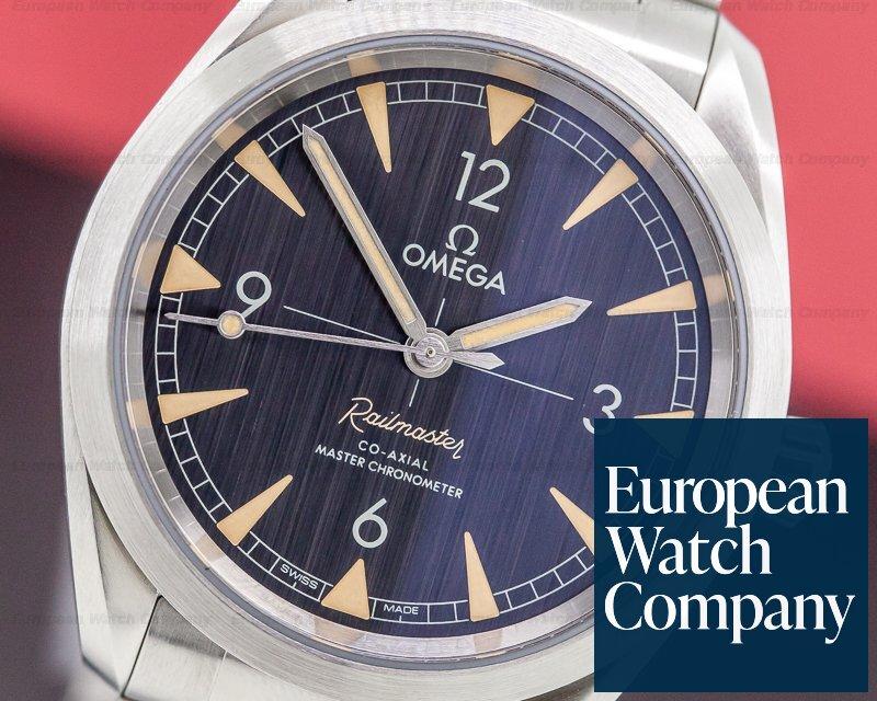 Omega 220.10.40.20.01.001 Railmaster Master Chronometer SS Co Axial