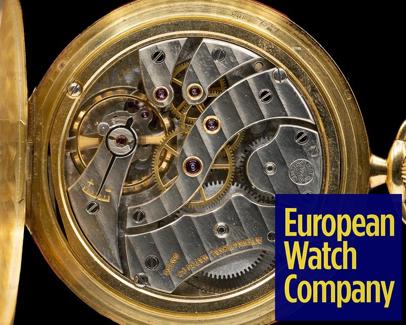 IWC 5404 Pocket Watch 18K Yellow Gold 45MM