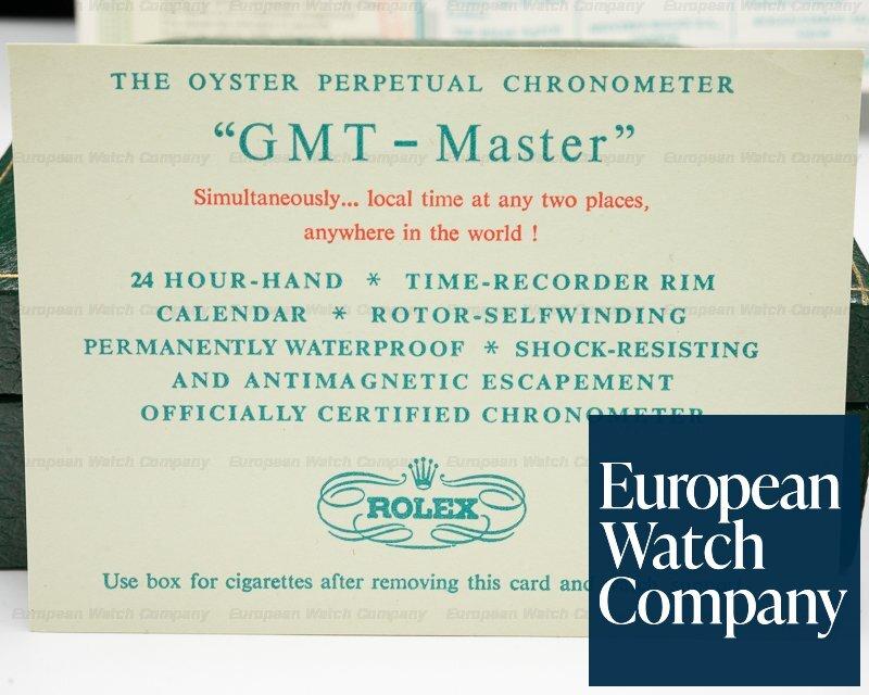 Rolex 1675 Vintage GMT Master Gilt Gloss Fuchsia Bezel FULL SET