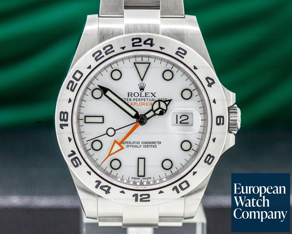 Rolex 216570 Explorer II White Dial SS / SS