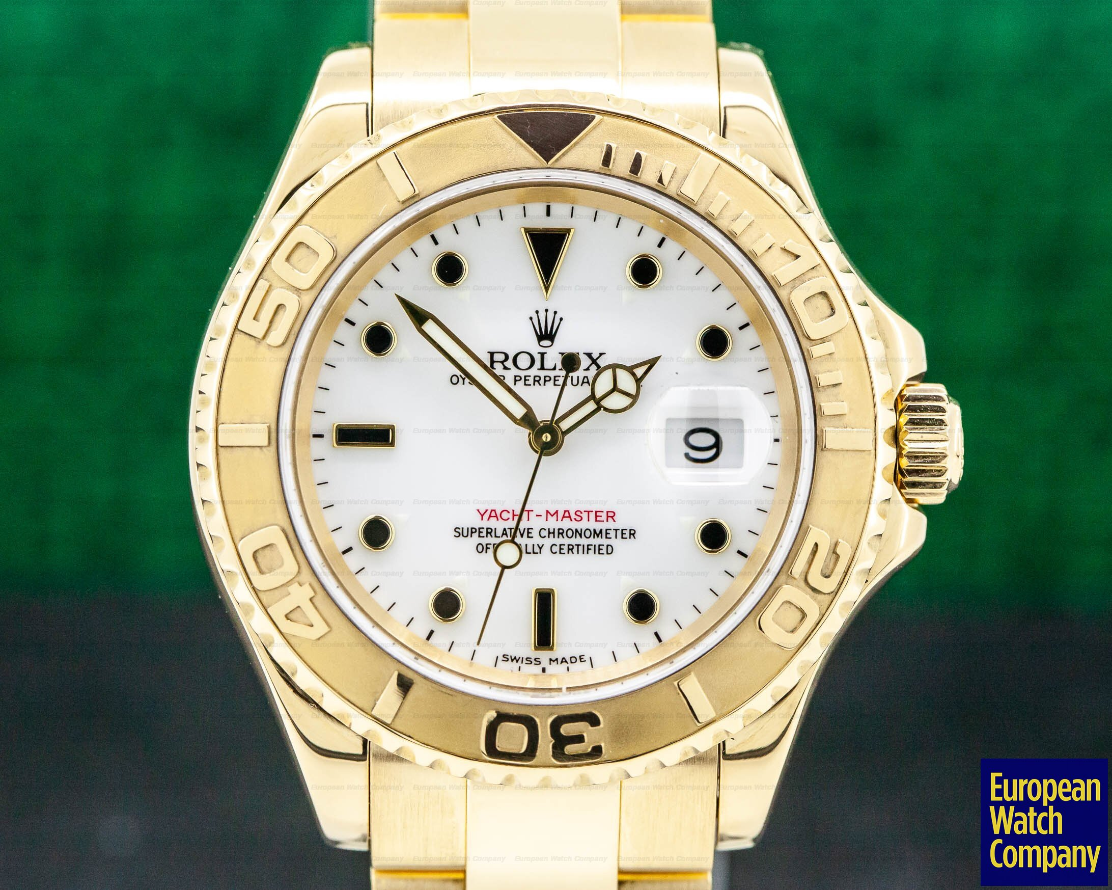 Rolex 16628B Yacht Master White Dial 18K Yellow Gold / Bracelet