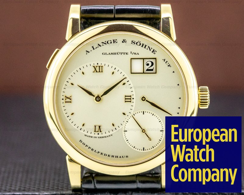 A. Lange and Sohne 101.021 Lange 1 101.021 Yellow Gold Champagne Dial