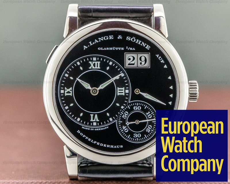 A. Lange and Sohne 101.029 Lange 1 Luminous 18K White Gold RARE