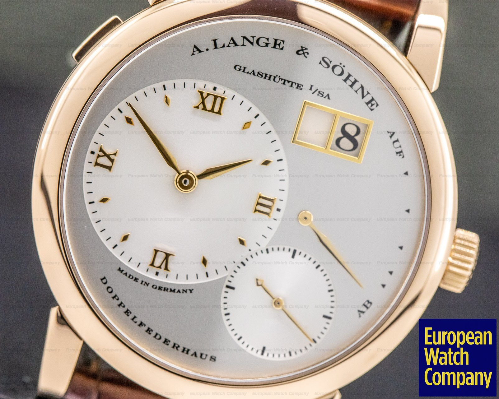 A. Lange and Sohne 101.032 Lange 1 18K Rose Gold Silver Dial