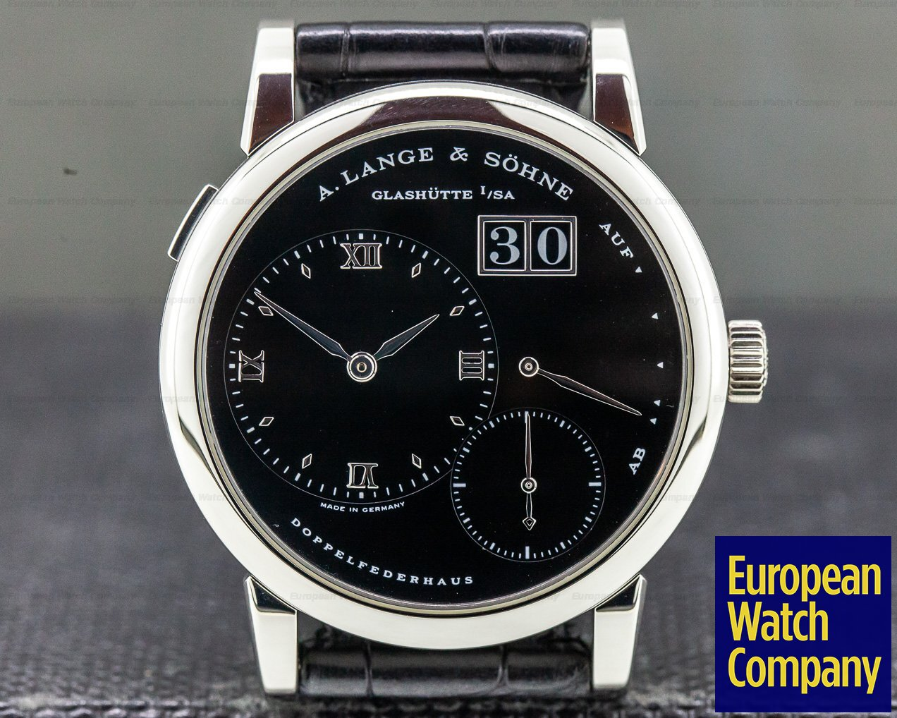 "A. Lange and Sohne 101.035 Lange 1 Platinum Black Dial ""DARTH"""
