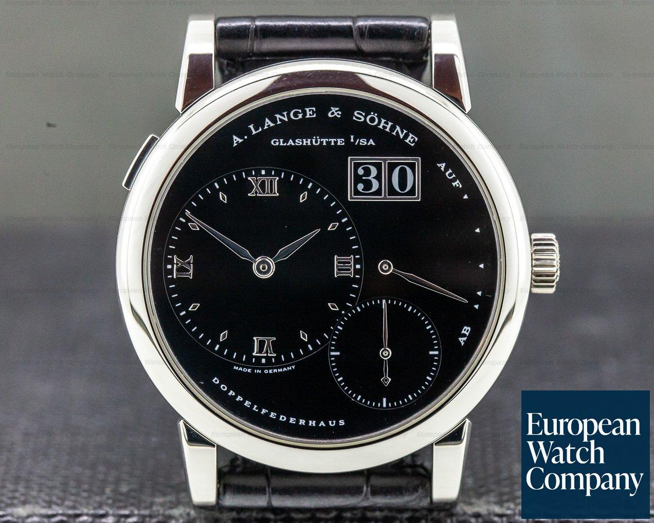 """A. Lange and Sohne 101.035 Lange 1 Platinum Black Dial """"DARTH"""""""