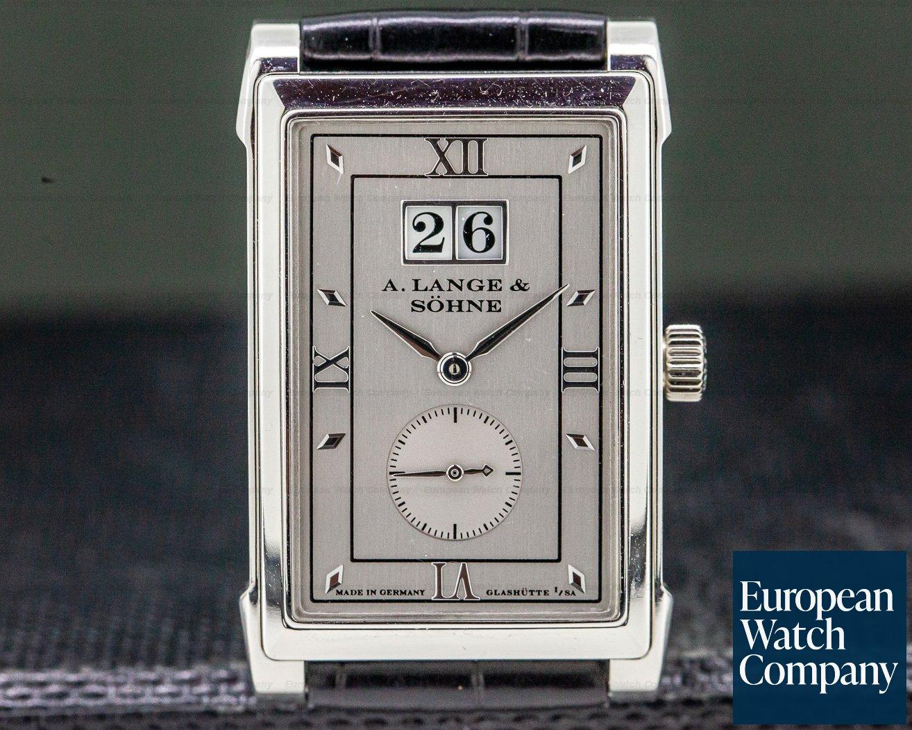 A. Lange and Sohne 107.035 Cabaret Platinum Silver Dial