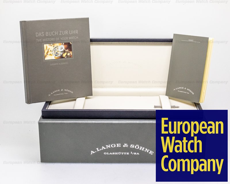 A. Lange and Sohne 107.035 Cabaret Platinum Silver Dial FULL SET