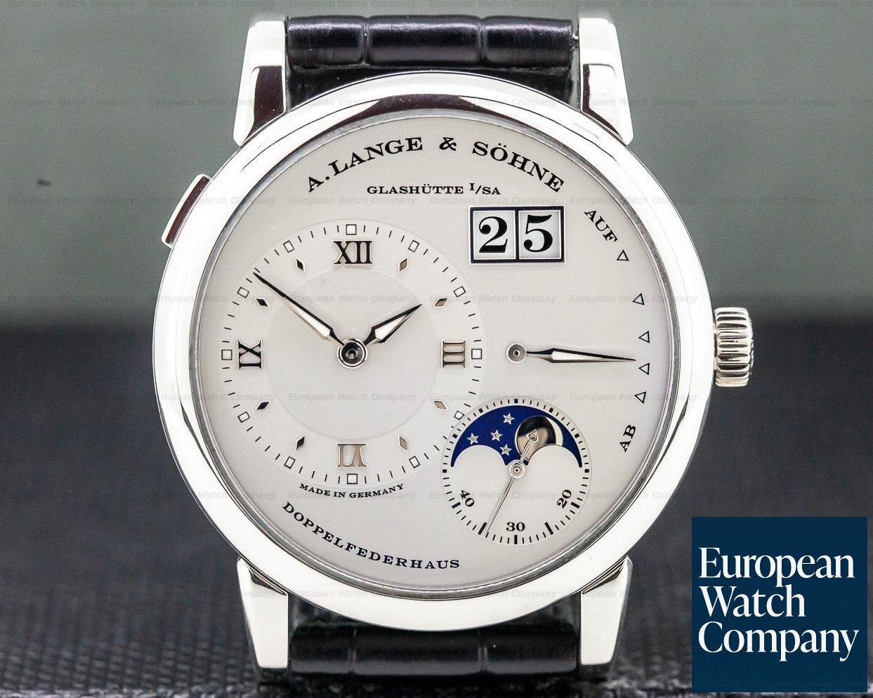A. Lange and Sohne 109.025 Lange 1 Moon Platinum / Deployment Buckle